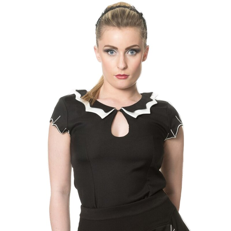 Banned Goth Blouse - Batting Eyelids Top