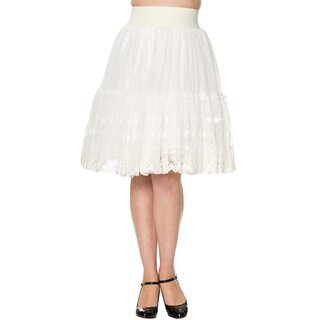 Dancing Days A-Line Lace Skirt - First Sight Cream