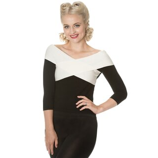 Dancing Days Knitted Jumper - Wrapped In Love Black-White