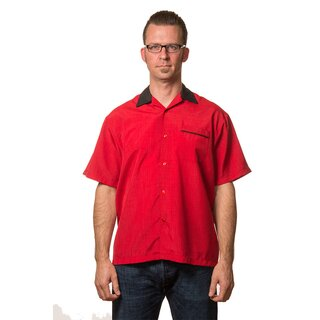Steady Clothing Vintage Bowling Shirt - Bowler Red