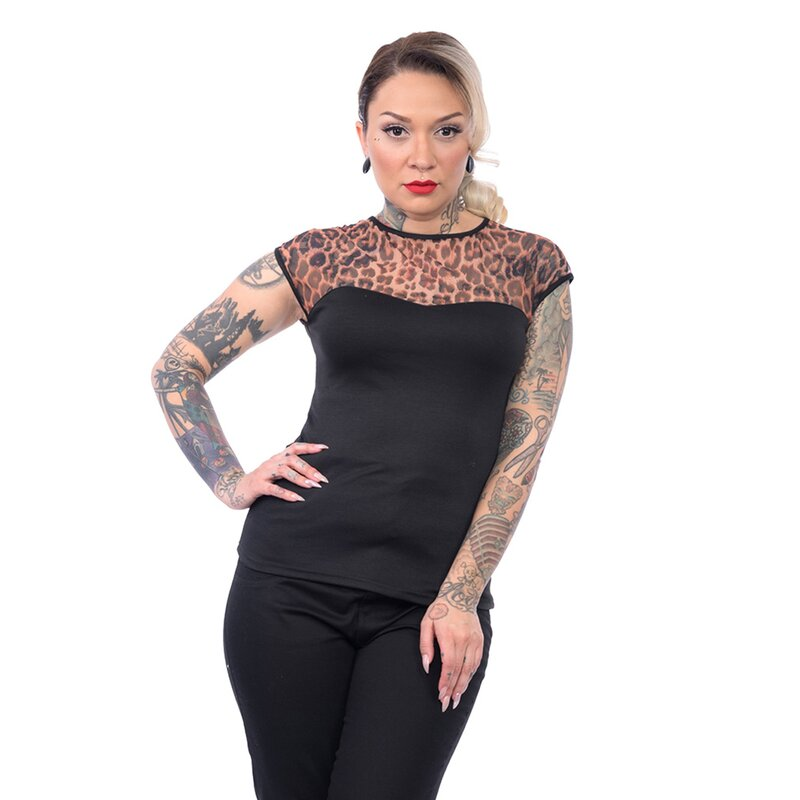Miss Fancy Leopard Steady Clothing Top