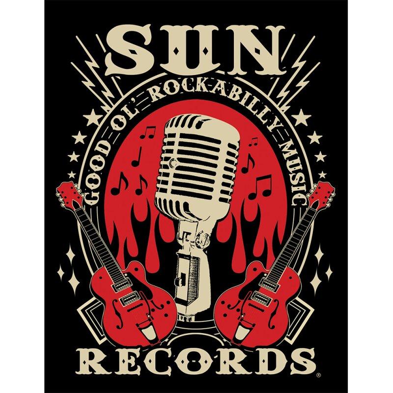 Sun Records By Steady Clothing Damen T Shirt Rockabilly