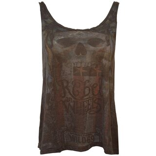 Queen Kerosin Ladies Tank Top - Wild 69 Black
