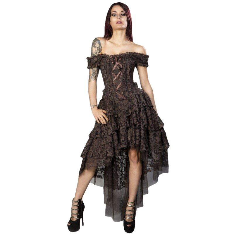 Burleska Korsett Kleid - Ophelie Brocade King Braun, € 109,90