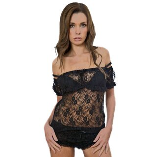 Burleska Lace Top - Gypsy Black