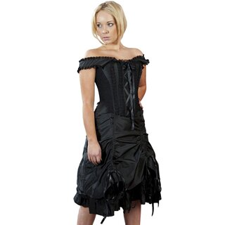 Burleska Corset Dress - Dita Taffeta Black