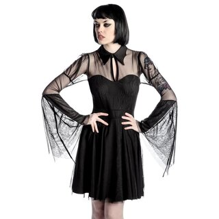 Killstar Gothic Chiffon Kleid - Bound By Blood