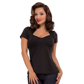 Steady Clothing Top - Piped Sophia Black