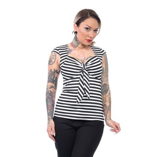 Steady Clothing Top - Striped Sweetheart Schwarz