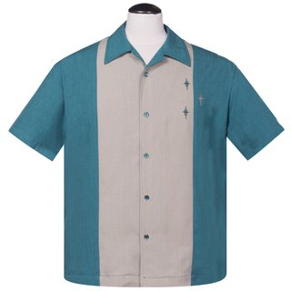 Steady Clothing Vintage Bowling Shirt - The Crosshatch...