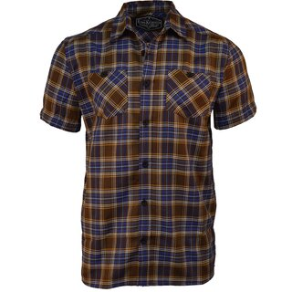 King Kerosin Plaid Shirt - Plain Brown