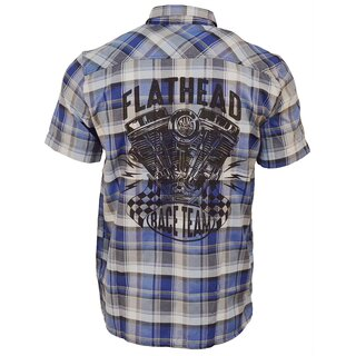 King Kerosin Plaid Shirt - Flathead Blue
