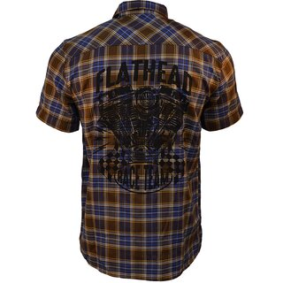King Kerosin Plaid Shirt - Flathead Brown