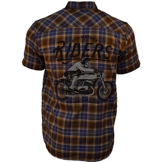 King Kerosin Plaid Shirt - Forever 2 Wheels Brown