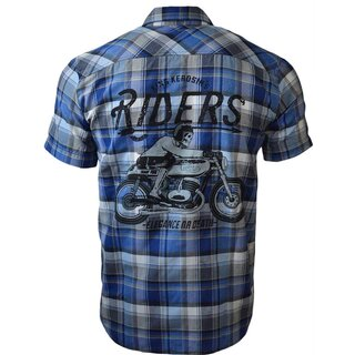 King Kerosin Plaid Shirt - Forever 2 Wheels Blue