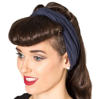 Banned Headband - No Talking Navy Blue
