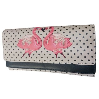 Banned XXL Wallet - Blair Polka Dot Beige