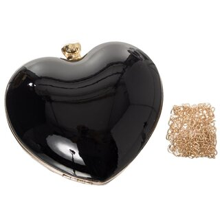 Dancing Days Patent Leather Clutch - Star Burst Black