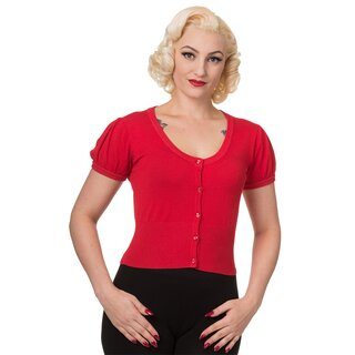 Dancing Days bauchfreier Cardigan - Short Plain Rot