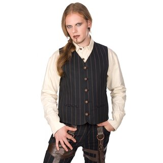 Aderlass Weste - Dark Vest Steam Punk Pin Stripe