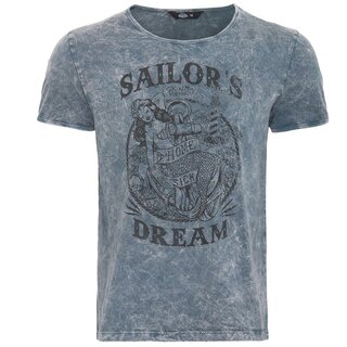 King Kerosin Vintage T-Shirt - Mermaid Grey