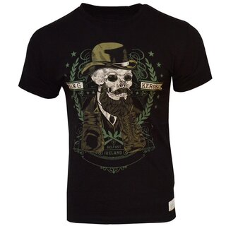 King Kerosin Vintage T-Shirt - Skull Gent Black