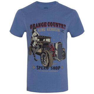 King Kerosin Regular T-Shirt - Orange Country Blue