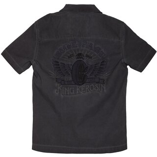 King Kerosin Dragstrip Worker Shirt - Ride Fast Black