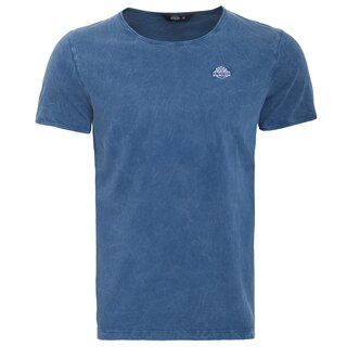 King Kerosin Vintage T-Shirt - Basic Blau