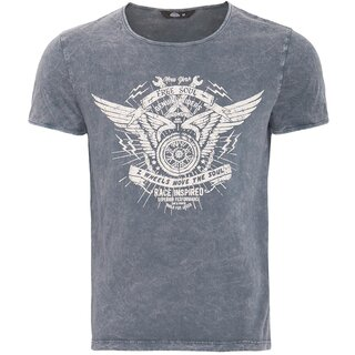 King Kerosin Vintage T-Shirt - Free Soul Grey