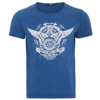 King Kerosin Vintage T-Shirt - Free Soul Blue