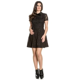 Hell Bunny Lace Mini Dress - Rowena Black