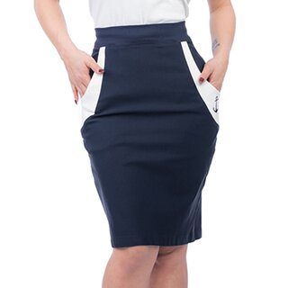 Steady Clothing High-Waist Pencil Skirt - Sail Away Navy...