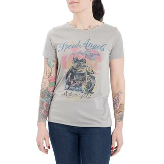 Queen Kerosin T-Shirt - Racer Girls Grau