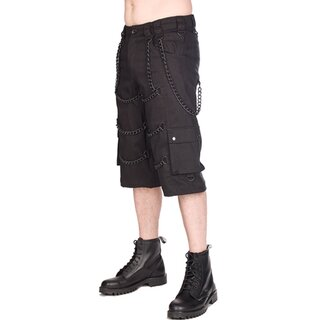 Black Pistol Shorts - Chain Short Pants Denim