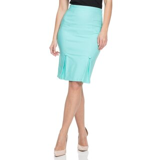 Voodoo Vixen Pencil Skirt - Nicole Mint Green
