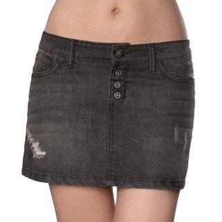Hyraw Denim Mini Skirt - Cross
