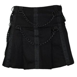 Black Pistol Denim Minirock - Chain Skirt