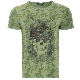 King Kerosin Vintage T-Shirt - Born To Kill Camouflage