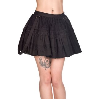 Black Pistol Denim Mini Skirt - Sibyl