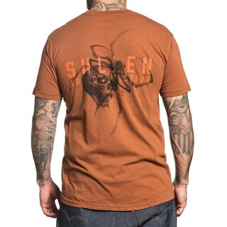 Sullen Clothing T-Shirt - Spider Bite Rostbraun