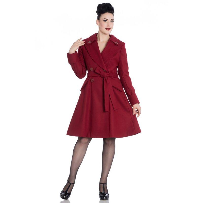 hell bunny vintage mantel olga coat dunkelrot 139 90. Black Bedroom Furniture Sets. Home Design Ideas