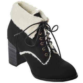Dancing Days Winter Ankle Boots - Fill Your Heart Black