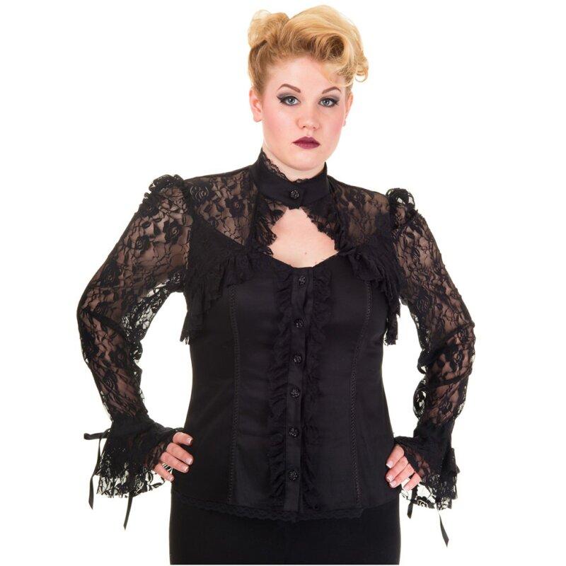 b5ec0c4136424 Dancing Days Gothic Bluse - Black Lace, € 44,95