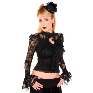 Dancing Days Gothic Blouse - Black Lace