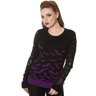 Banned Jumper - Haunted Diva Purple
