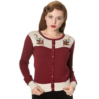 Dancing Days Cardigan - Young Love Bordeaux