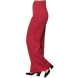 Dancing Days Marlene Trousers - Stay Awhile Red