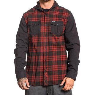 Sullen Clothing Flannel Kapuzenjacke - Flint