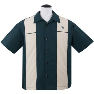 Steady Clothing Vintage Bowling Shirt - Classy Piston Teal